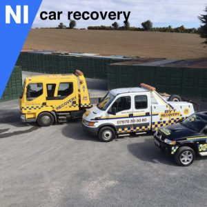 NI Car Recovery Base In Belfast Showing Our fleet Of Recovery Vehicles